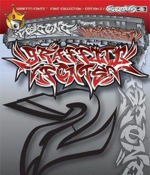 Pack шрифтов в стиле графити