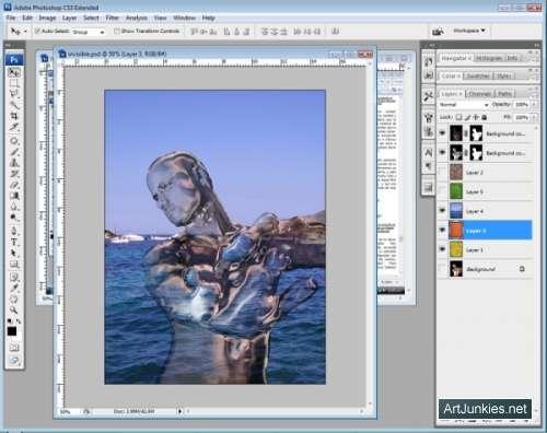 Как сделать фото прозрачным в фотошопе