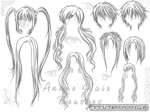 Как рисовать волосы карандашом аниме