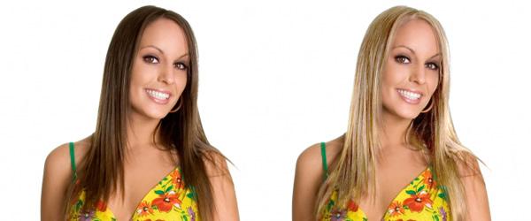Как в фотошопе сделать с брюнетки блондинку