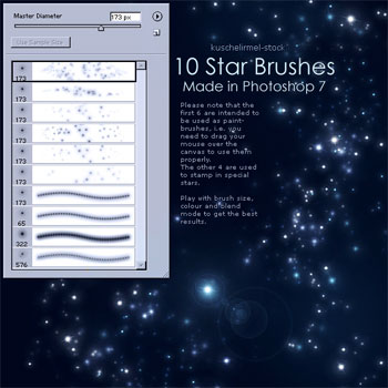 10 Star Brushes
