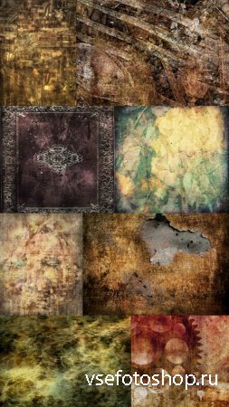 Flowers on the Wall Collection of Grungy Textures JPG Files