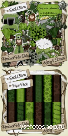 Scrap - Irish Charm PNG and JPG Files