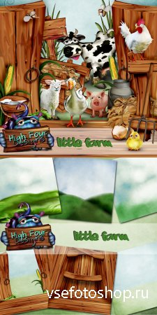 Scrap - Little Farm PNG and JPG Files
