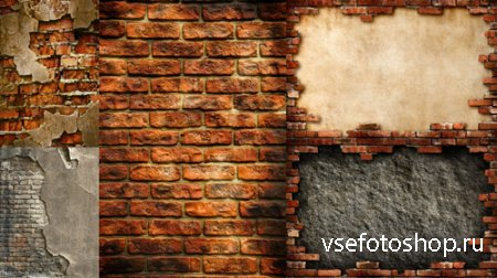 Destroyed Brick Wall Textures