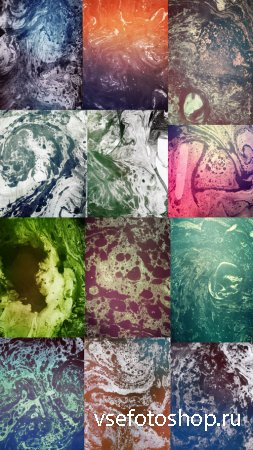 Psychadelic Stained Paper Textures JPG Files