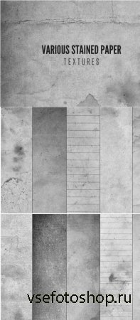 Various Stained Paper Textures JPG Files