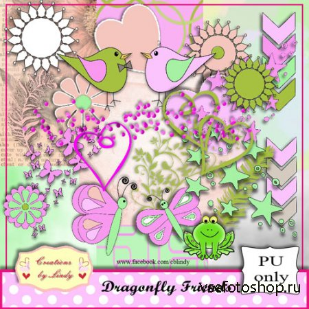 Scrap - Dragonfly Friends PNG and JPG Files