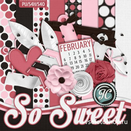 Scrap - So Sweet JPG and PNG Files