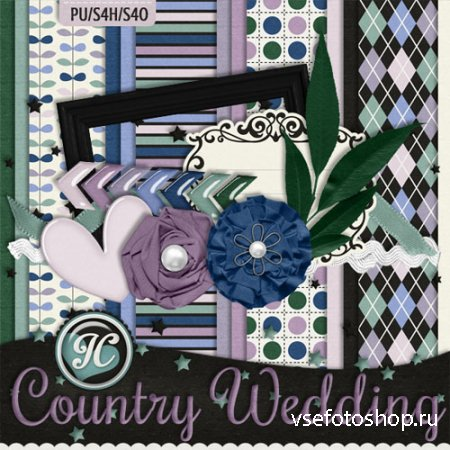 Country Wedding Kit PNG and JPG Files