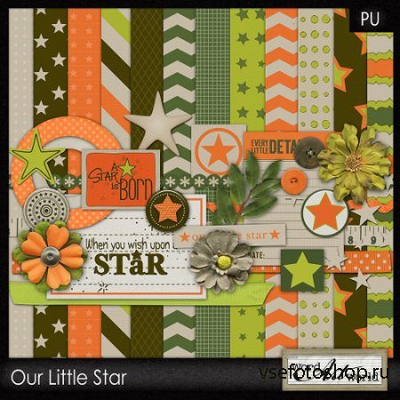 Scrap - Our Little Star PNG and JPG Files