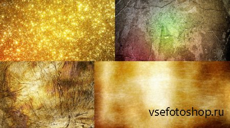 Four Gold Textures JPG Files