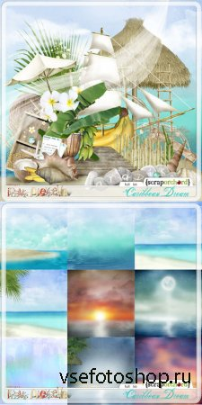 Scrap - Caribbean Dream PNG and JPG Files