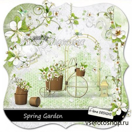 Scrap - Spring Garden PNG and JPG Files
