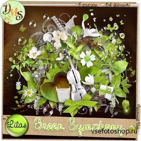 Scrap - Green Symphony PNG and JPG Files