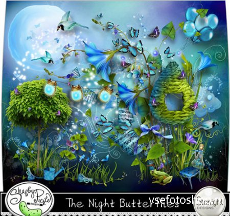 Scrap The Night Butterflies PNG and JPG Files