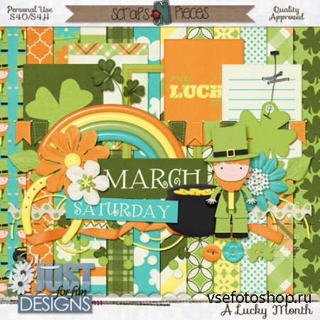 Scrap - A Lucky Month PNG and JPG Files