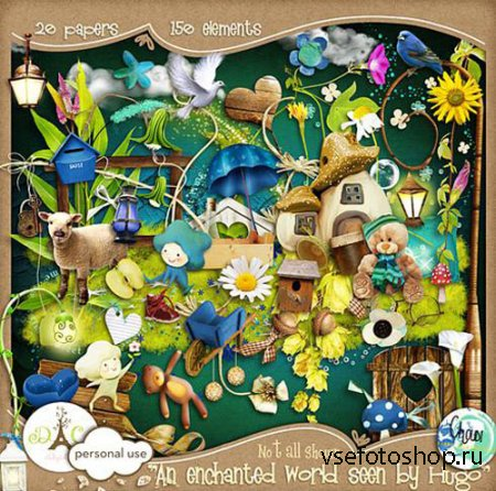 Scrap - An Enchanted World PNG and JPG Files
