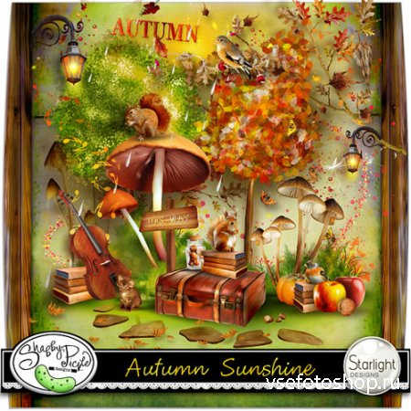 Autumn Sunshine Scrap Kit PNG and JPG Files