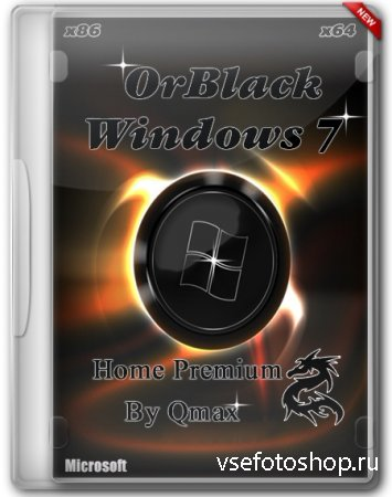Windows 7 SP1 Home Premium x86/x64 OrBlack IE11 by Qmax (2014/RUS)