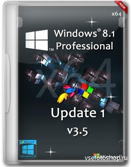 Windows 8.1 Professional Update 1 x64 v3.5 by D1mka (RUS/2014)