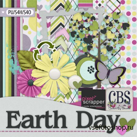 Scrap - Earth Day JPG and PNG Files
