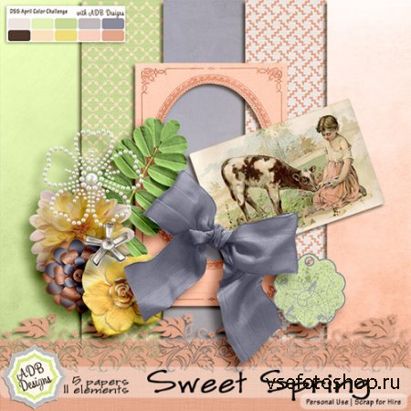 Scrap - Sweet Spring JPG and PNG