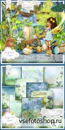 Scrap - Sweet Easter Kit JPG and PNG