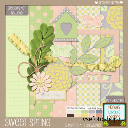 Scrap - Sweet Spring Kit JPG and PNG