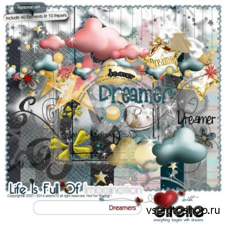 Scrap - Dreamers JPG and PNG
