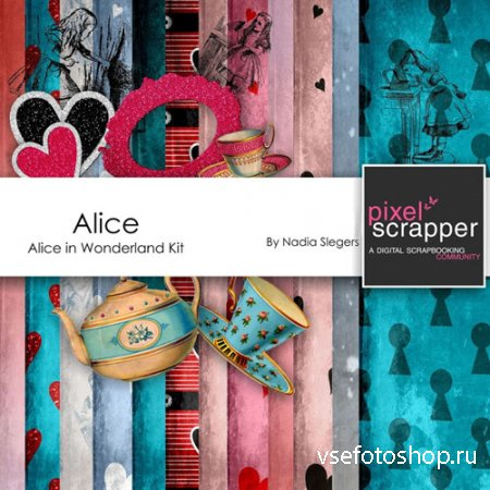 Scrap - alice PNG and JPG Files