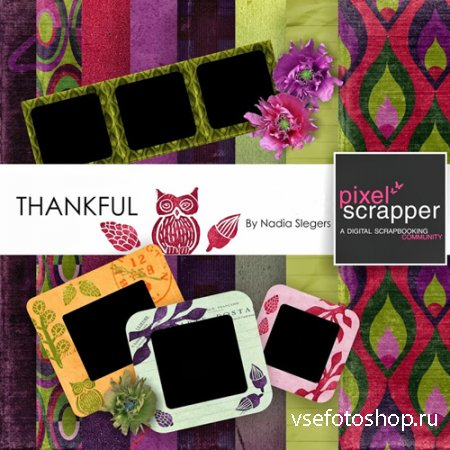 Scrap - Thankful PNG and JPG