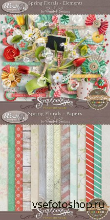Scrap - Spring Florals PNG and JPG FIles