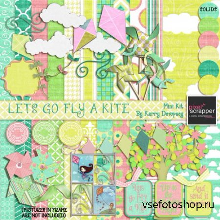 Scrap - Lets Go Fly a Kite PNG and JPG
