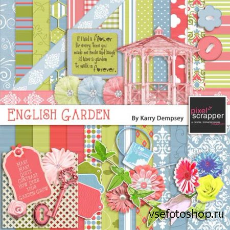 Scrap - English Garden PNG and JPG