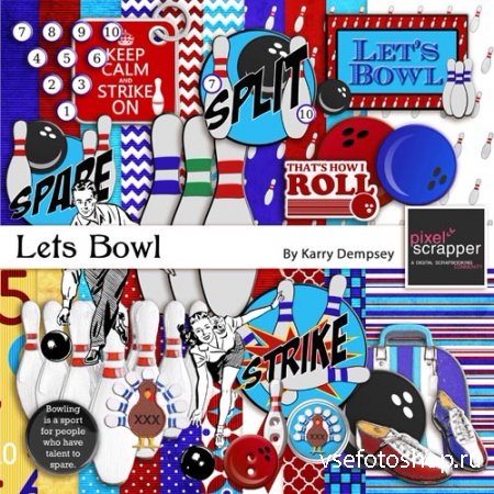 Scrap - Lets Bowl PNG and JPG