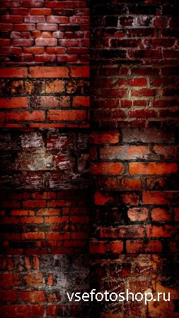 Brick Wall Texture in Red Style Set 1
