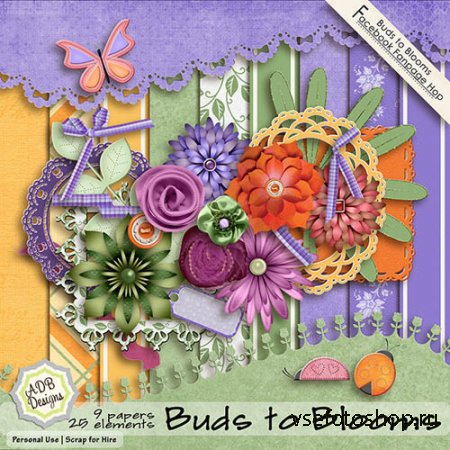 Scrap Kit - Buds to Blooms JPG and PNG