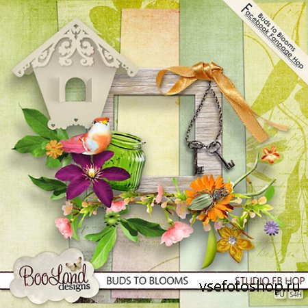 Scrap - Buds to Blooms Kit JPG and PNG
