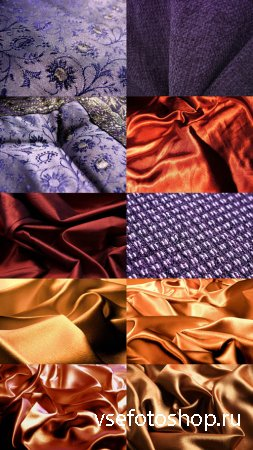 Gold & Violet Fabric Textures JPG