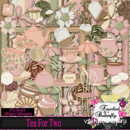 Scrap - Tea For Two PNG and JPG