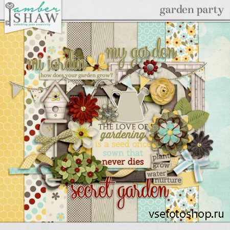 Scrap - Garden Party PNG and JPG