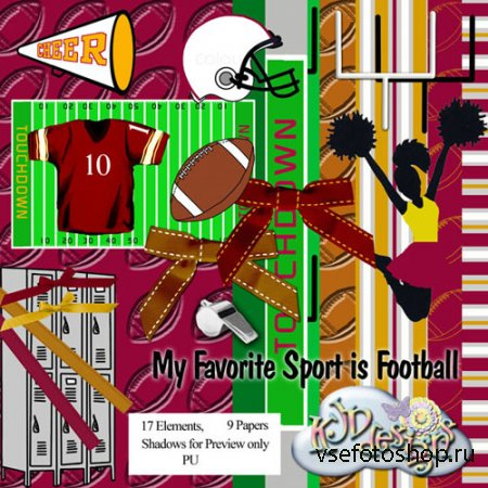 Scrap - My Favorite Sport Football PNG and JPG