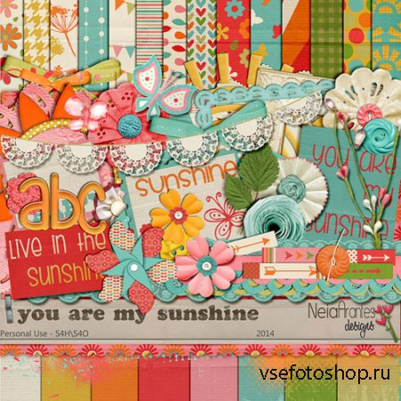 Scrap - You are my Sunshine PNG and JPG Files