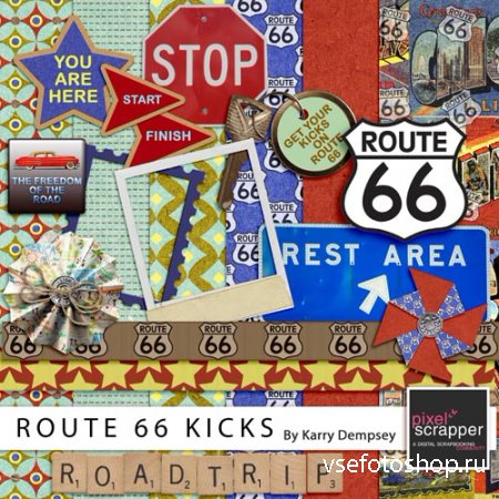 Scrap - Route 66 Kicks PNG and JPG