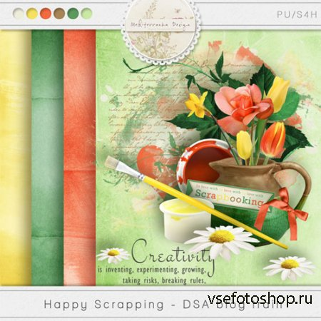 Scrap - Happy Scrapping PNG and JPG
