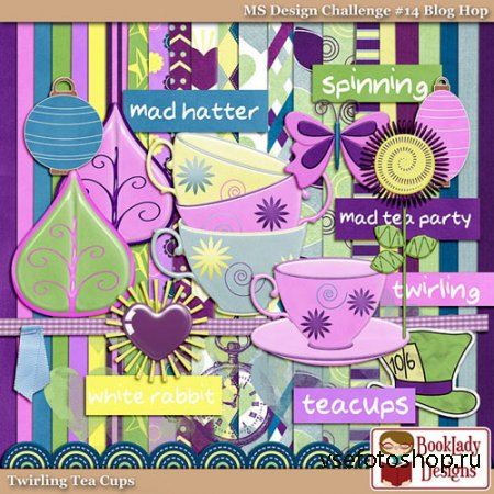 Scrap - Twirling Tea Cups PNG and JPG